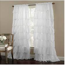 Sheer Ruffled Curtains Ruffle Rod Pocket White Curtain Sheer Sheercurtain Custommade