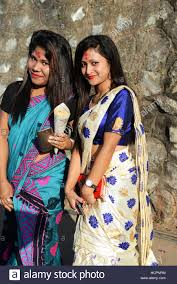 beautiful assamese girls in guwahati assam stock photo royalty
