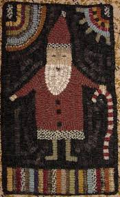 82 best rug hooking christmas images on pinterest