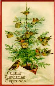 vintage christmas tree vintage birds christmas tree image charming the graphics fairy