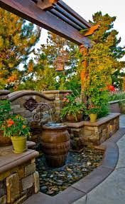 Rock Water Features For The Garden by Build The Waterfall In The Garden Itself And Enjoy The Harmony Of