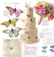 bridal guide butterfly wedding cake spring wedding cakes