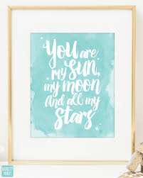 Stars Nursery Decor by You Are My Sun My Moon And All My Stars E E Cummings Quote