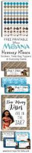 disney moana free printable hershey kiss stickers treat bag