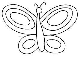 simple butterfly outline coloring home