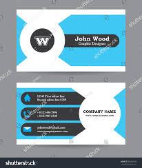 modern business card template flat design stock vector 365595449