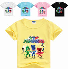 pj mask boys girls clothes children shirt cotton short sleeve