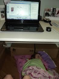 Secretary Under The Desk by Foto Finish Friday Petajo