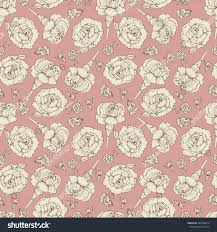 vintage floral wrapping paper vintage floral seamless pattern carnation flowers stock vector