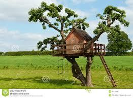 beautiful creative tree house royalty free stock photography