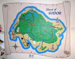 thomas and friends wall mural home design ideas wall mural island of sodor map from the pbs show thomas and friends part 48