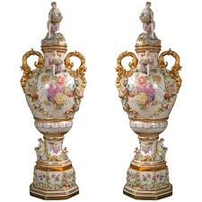 urns for sale fantastic pair of meissen style covered urns for sale at 1stdibs