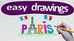 easy drawings 170 how to draw a paris eiffel tower youtube