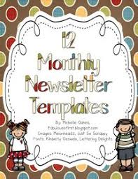 elementary newsletters all 12 months colors newsletter