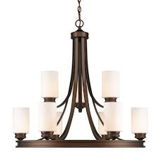Home Depot Bronze Chandelier Holborn Collection 9 Light Bronze Opal Shade Chandelier Thd1051op9