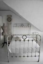 Antique White Metal Bed Frame Bed Low Profile Bed Frame White Rod Iron Bed Iron Bed Rails