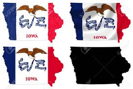 map us iowa us iowa state flag map collage stock photo picture and