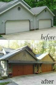 adding character to the exterior with carriage garage doors