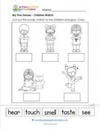 my five senses a matching page kindergarten science