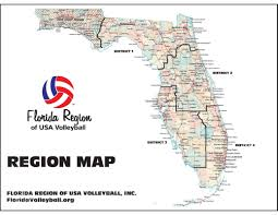 Florida District Map by About Us Florida Region Of Usa Volleyball