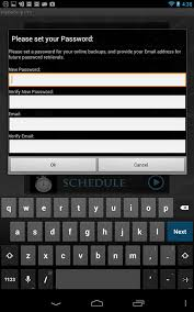 change password on android phone my backup pro for nexus 7 won t accept email password