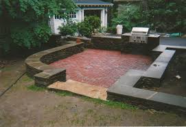 Herringbone Brick Patio Outdoor Patio Kitchen Design With Red Brick Herringbone Floor F