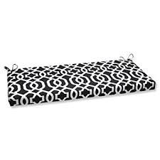 amazon com pillow perfect outdoor new geo bench cushion black
