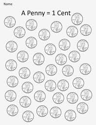 Coin Worksheets Kindergarten And Mooneyisms Coins Part One A Penny U003d 1 Cent