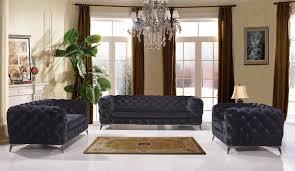 Black Fabric Sofa Sets Divani Casa Delilah Modern Black Fabric Sofa Set