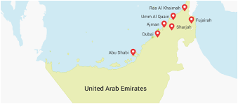 map of the uae city sightseeing sharjah home