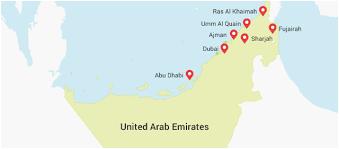 uae map city sightseeing sharjah home