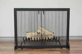 impressive decoration fireplace curtain hanging mesh screen kit