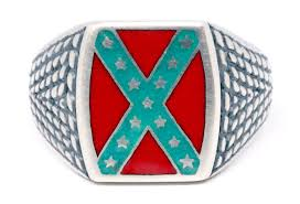 Confederate Flag Jewelry Confederate Rebel Flag Ring For Sale
