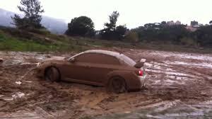 subaru baja mud tires subaru wrx sti off road test drive in mud youtube