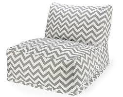 online shop black or grey color chervon bean bag chair l shape