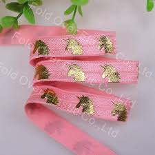 where to buy gold foil aliexpress buy gold foil unicorn printed fold elastic 5