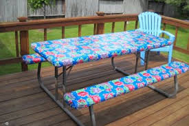 fitted picnic table covers get your custom oil cloth tablecloth for your picnic table