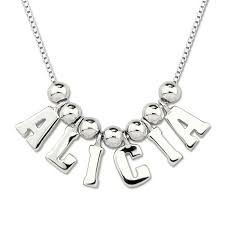 necklace with your name personalized sterling silver necklace with your name giftories