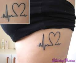 heartbeat tattoo with infinity heart tattoo fantastic heartbeat on side for girls tattooshunter com