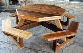 Plans For Picnic Table Bench Combo by Blog Cozy Cabin Rustics