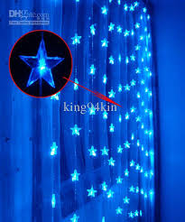 Marine Led Strip Lights Five Pointed Star 180 Led 3 3m Curtain Lights Christmas Ornament