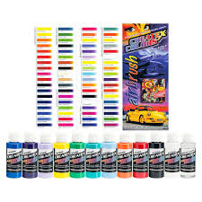11 createx colors opaque airbrush paint kit color chart hobby