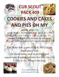 Cub Foods Hours Thanksgiving Pack 409 Thanksgiving Bake Sale Pflugerville Cub Scout Pack 409