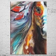online shop free shipping high quality horse oil paints abstract