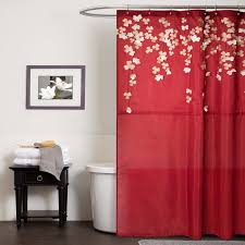 Red White And Blue Bathroom Decor Amazon Com Lush Decor Flower Drops Shower Curtain 72 By 72 Inch