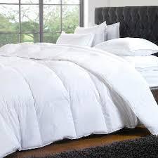 big fluffy white comforter sheets etc on the hunt
