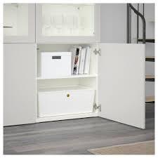 Ikea Besta Glass Doors by Bestå Storage Combination W Glass Doors White Lappviken Light Grey