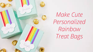 personalized goodie bags diy die cut personalized rainbow treat favor bags