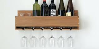 wine rack rustic wall mounted wine glass rack unique wall