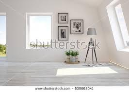 Home Design 3d Furniture White Room Modern Furniture Winter Landscape Stock Illustration